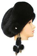 Меховая шапка на основе норковая,Валентина (черный)