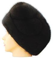 Меховая шапка на основе,Стюардесса узор (черная)