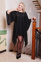 Вечернее платье больших размеров с ассиметричным низом