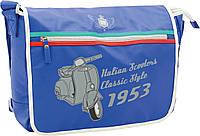 Школьная  сумка через плечо Italian Scooter синяя
