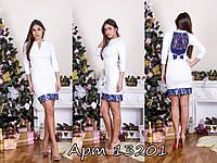 """Молодежное платье мини """"Гипюровый бантик"""" мод 005"""