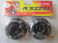 Колеса для роликовых коньков со светодиодами 2шт 70х24мм
