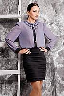 Женское платье-обманка в офисном стиле