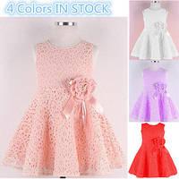 Нарядное стильное детское платье с бантом