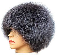 Женская меховая шапка из блюфроста,Паричок (серебро)