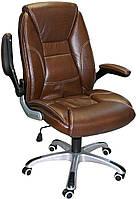 Кресло для руководителя корочневая кожа CLARK  brown