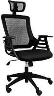 Кресло офисное для руководителя MERANO headrest  Black
