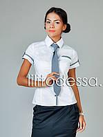 Рубашка с галстуком белый