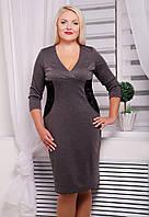 Элегантное платье больших размеров с гипюровыми вставками