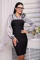 Оригинальное платье-сарафан с драпировкой