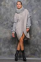 Женское пальто серое Шанталь