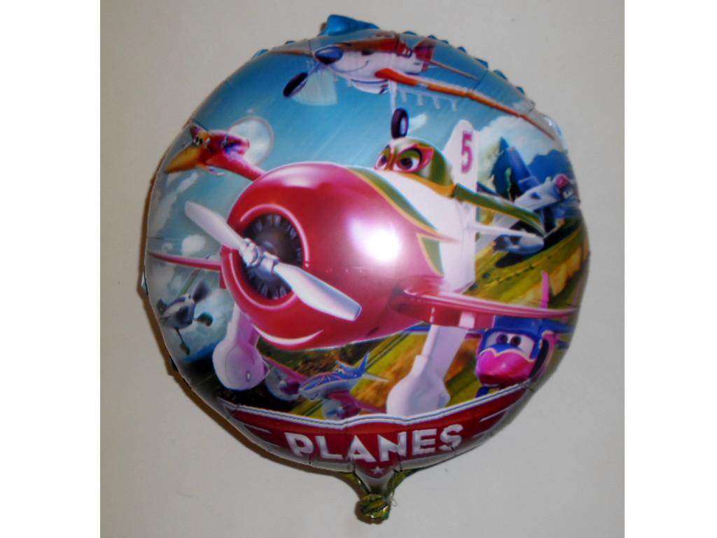 """Воздушные шарики оптом. Шарик фольгированный """"Летачки"""" диаметр 45см."""
