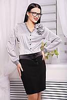 Женская юбка с атласной отделкой