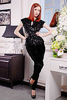 Женские стильные велюровые брюки