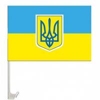Флажок Украины 30х45 см. автомобильный