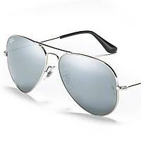 Очки Ray Ban 3025 3026 Aviator Зеркальные комплект, копия