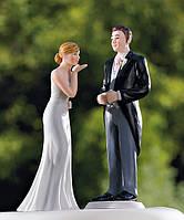 """Фигурка на свадебный торт """"Воздушный поцелуй"""", красивые и оригинальные  свадебные статуэтки"""