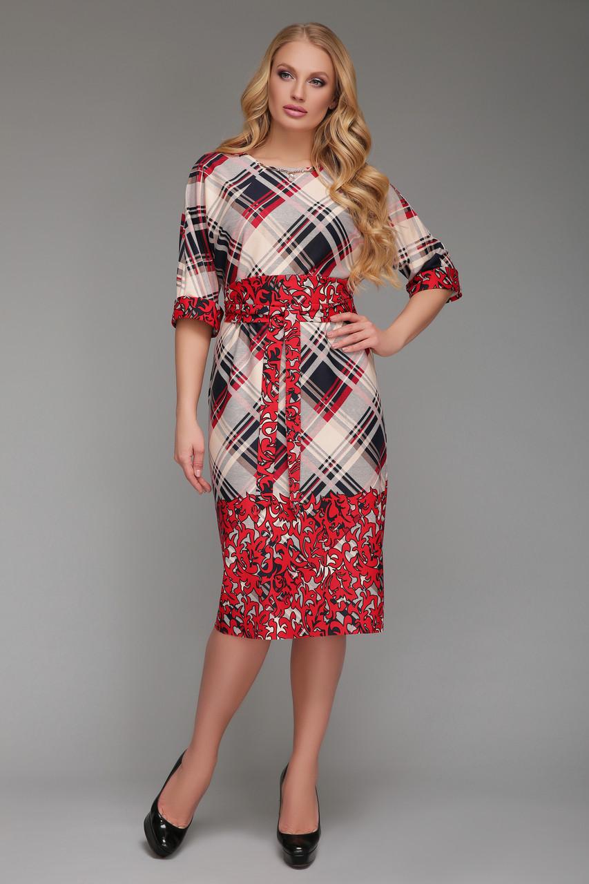 Платье от производителя  Алла красная клетка Vlavi
