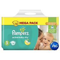 Подгузники Pampers Active Baby-Dry Junior 5 ( 11-18 кг) 110 шт (Памперсы)