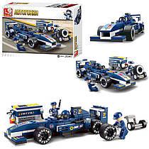 Конструктор Гонка-автогонки на 196деталей, гоночные машины,фигурки,SLUBANM38-B0351