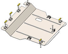Защита двигателя Daihatsu Materia (c 2006--) 1.5 Standart