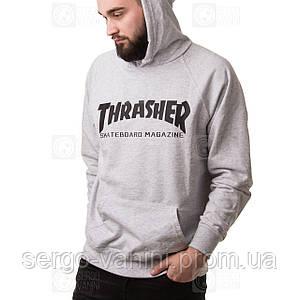 Thrasher худи мужская • Фотки наши • Бирки есть • Толстовка трешер серая