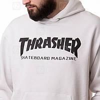 Thrasher мужская толстовка • Бирка топовая • Трешер белая худи