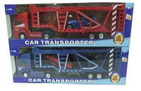 Трейлер машина-транспортер металлопластик MK1011 (60шт/2) с машинками в коробке