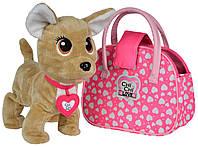 Собачка Чихуахуа Хеппи (30 см), интерактивная игрушка с сумочкой, Chi Chi Love