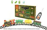 Железная дорога 0622 Золотая стрелана батарейках р/у, муз, свет.эффекты, поезд, 3вагона, в кор. 70*44*10см