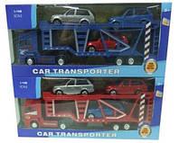 Трейлер машина-транспортер металлопластик MK1012 (48шт/2) с машинками в коробке