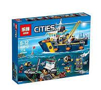 Конструктор LEPIN CITY 02012 (18шт/2) Исследовательский корабль, 774дет.,  в собр.коробке 48*9*38  см.