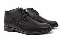 Ботинки мужские Mida натуральная кожа, цвет черный (каблук, комфорт, зима, Украина)