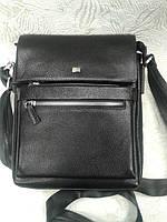Мужская сумка кожаная черная стильная фирмы Desisan