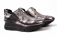 Туфли женские Mario Muzi натуральная кожа, цвет серебро (платформа, Турция)