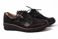 Туфли женские Helios натуральная кожа, сатин, цвет черный (платформа, комфорт)