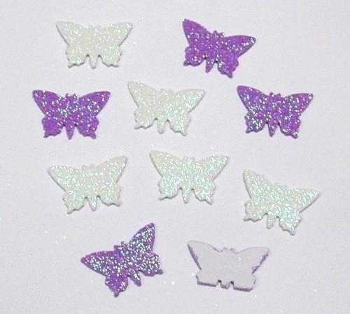Набір блискучих наклейок 10 шт, Метелики