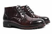 Ботинки мужские Cosottinni натуральная кожа, цвет коричневый (каблук, зима, комфорт, мех)