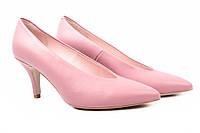 Туфли женские Bravo Moda модельные натуральная кожа, цвет розовый (каблук, шпилька, Польша)