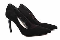 Туфли женские Bravo Moda натуральный замш, цвет черный (каблук, шпилька, модельные, Польша)