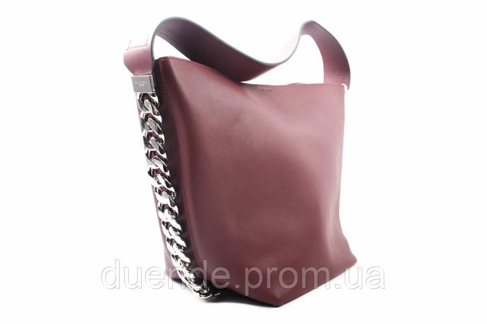 Сумка Givenchy натуральная кожа, цвет бордо, размер средний, форма трапеция  - Интернет- adba5bbe37e