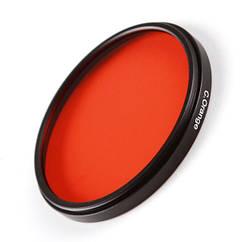Цветной фильтр 49 мм оранжевый.