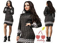 Женский удлиненный свитер с принтом, фото 1