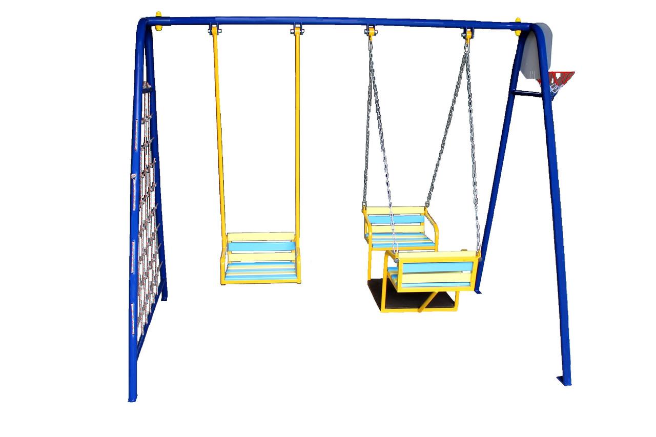 Детские качели трехместные КЛ-706, 5 в 1.