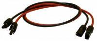 Комплект соединительных кабелей с разъёмами MC4 длиной 1м