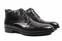 Ботинки мужские Lido Marinozzi натуральная кожа, цвет черный (каблук, комфорт, зима, нат. мех)