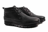 Ботинки мужские Ridge натуральная кожа, цвет черный (платформа, комфорт, зима, нат. мех, Турция)
