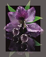 Картина на стекле с МДФ подложкой Сиреневый цветок 40*50 см