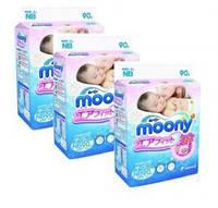 3 упаковки Подгузники японские MOONY 0-5кг 90 шт (NB) ящик