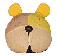 ПРОСТАР Подушка-сплюшка животное хлопок Собака №1 ПРО-29 (желтая)